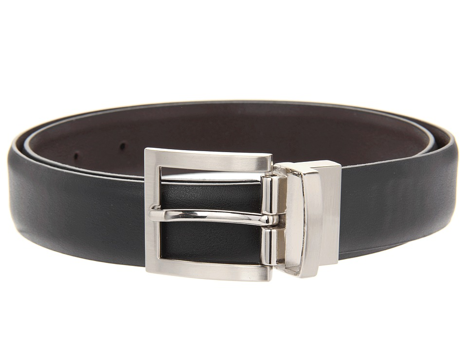 Florsheim Reversible Leather Belt (Black/Brown Reversible) Men