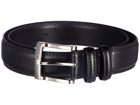 Florsheim - Pebble Grain 32mm Leather Belt (Black) Men