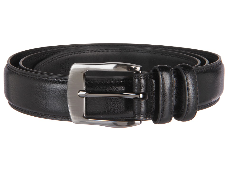 Florsheim Big and Tall 35mm Leather Belt (Black) Men