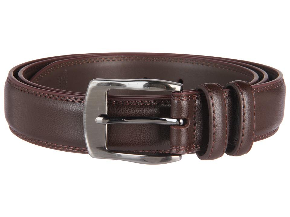 Florsheim - Big and Tall 35mm Leather Belt (Brown) Men's Belts