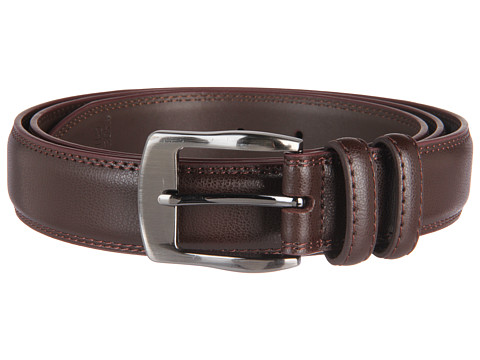 Florsheim - Big and Tall 35mm Leather Belt (Brown) Men