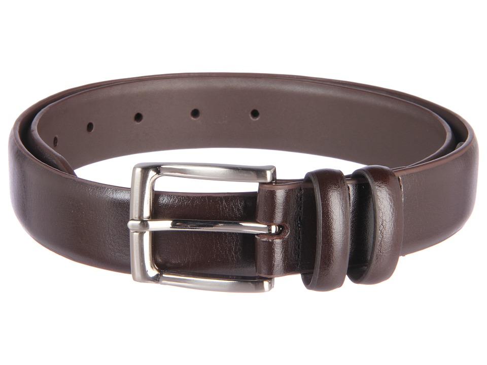 Florsheim - 35mm Leather Belt (Brown) Men's Belts