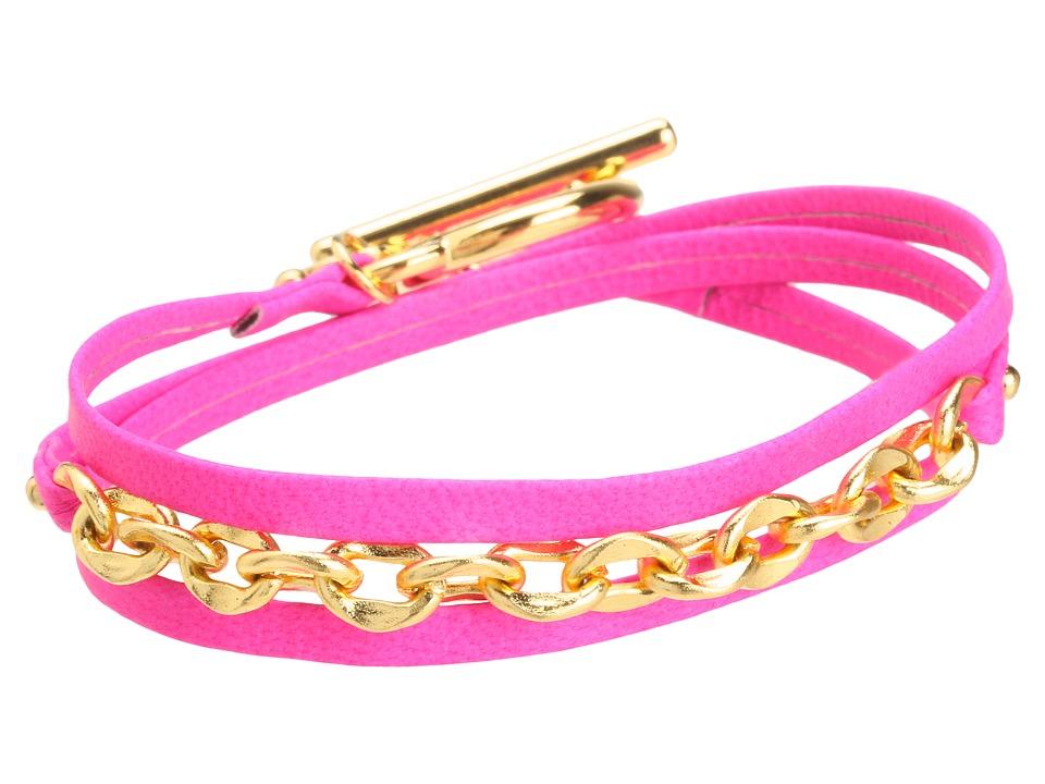 gorjana - Morgan Mini Neon Triple Wrap (Neon Pink) Bracelet