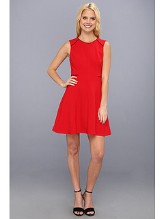 SALE! $76.99 - Save $176 on ABS Allen Schwartz Crepe Fit and Flare Dress (Flame) Apparel - 69.57% OFF $253.00