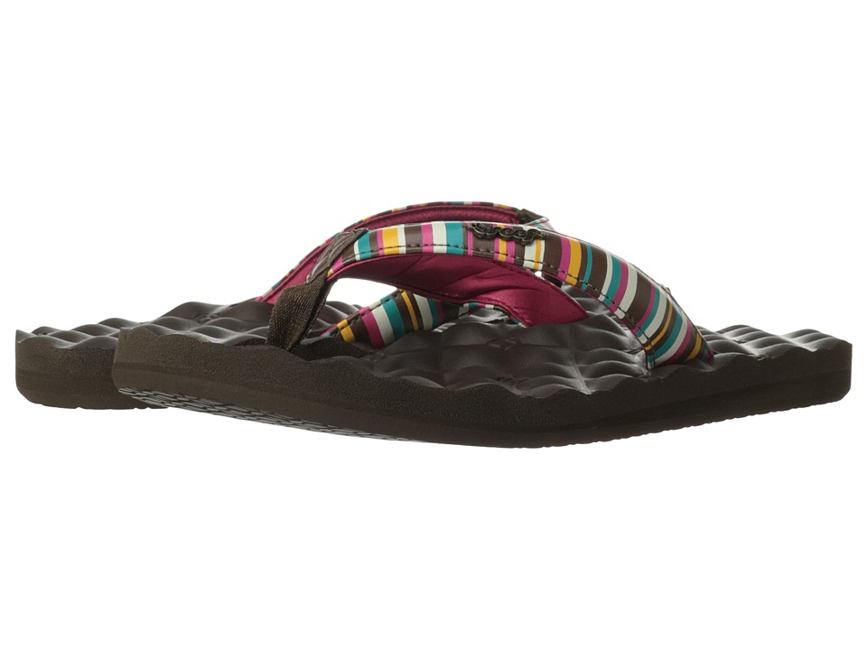 Reef - Dreams Prints (Brown/Pink/Stripes) Women's Shoes