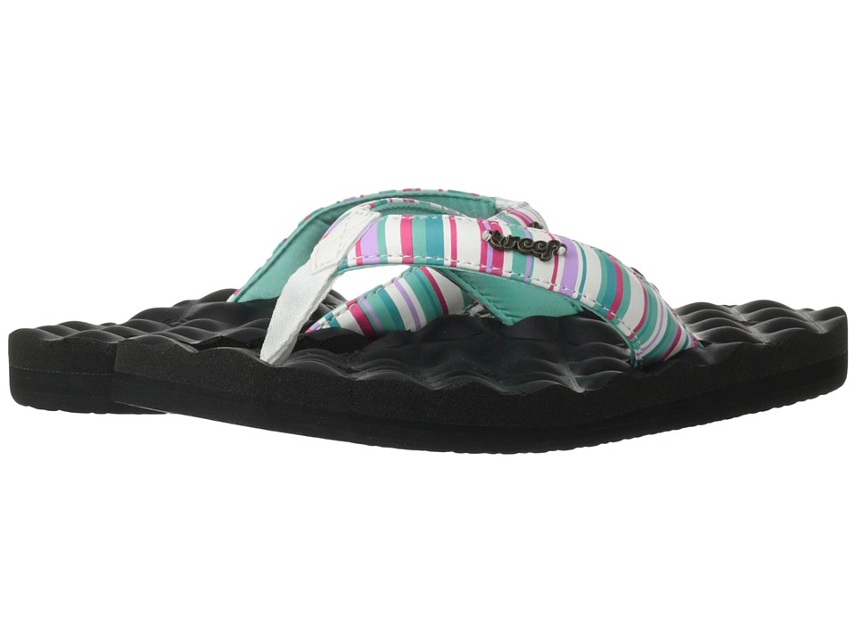 Reef Dreams Prints (Black/Aqua/Stripes) Women