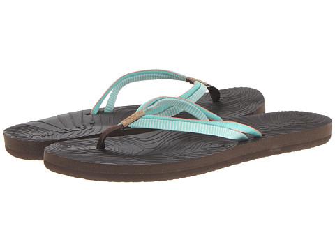 Reef - Double Zen (Brown/Aqua/Coral) Women's Sandals