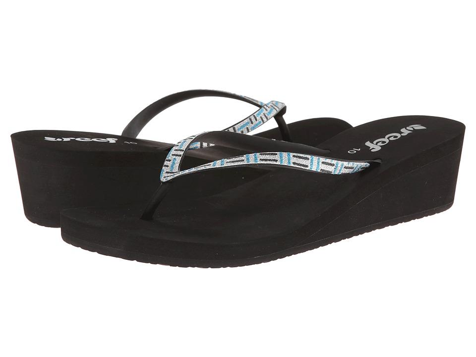 Reef - Krystal Star Luxe (Black/Teal/Silver) Women's Sandals