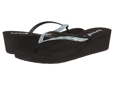 Reef - Krystal Star Luxe (Black/Teal/Silver) Women's Sandals