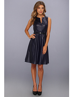 SALE! $99.99 - Save $64 on Muse Faux Leather Girlie Dress (Navy) Apparel - 39.03% OFF $164.00
