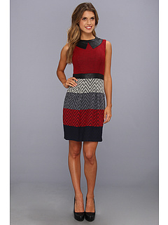 SALE! $81.99 - Save $66 on Muse Tucked Front Novelty Stripe Sheath (Multi) Apparel - 44.60% OFF $148.00