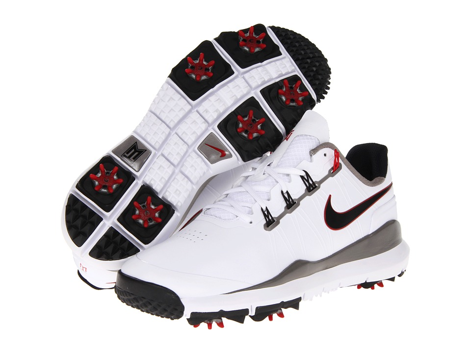 Nike Golf - TW '14 (White/Metallic Dark Grey/Metallic Dark Pewter) Men's Golf Shoes
