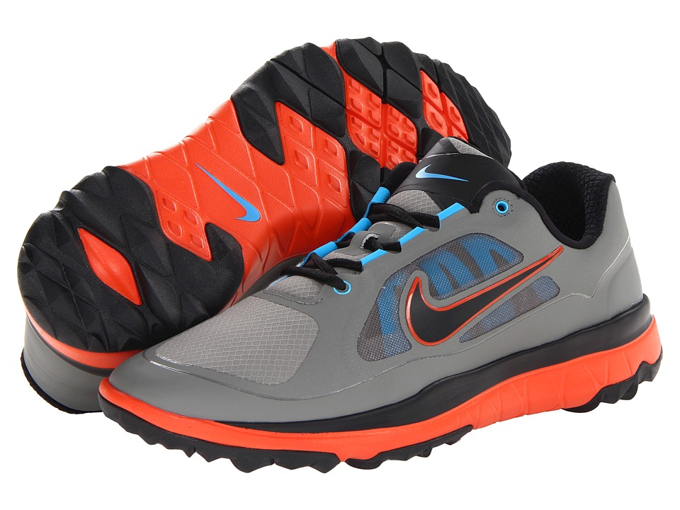 Nike Golf - FI Impact (Medium BS Grey/Black/Team Orange/Vivid Blue) Men's Golf Shoes