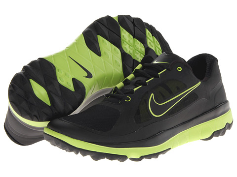Nike Golf - FI Impact (Black/Black/Venom Green) Men's Golf Shoes