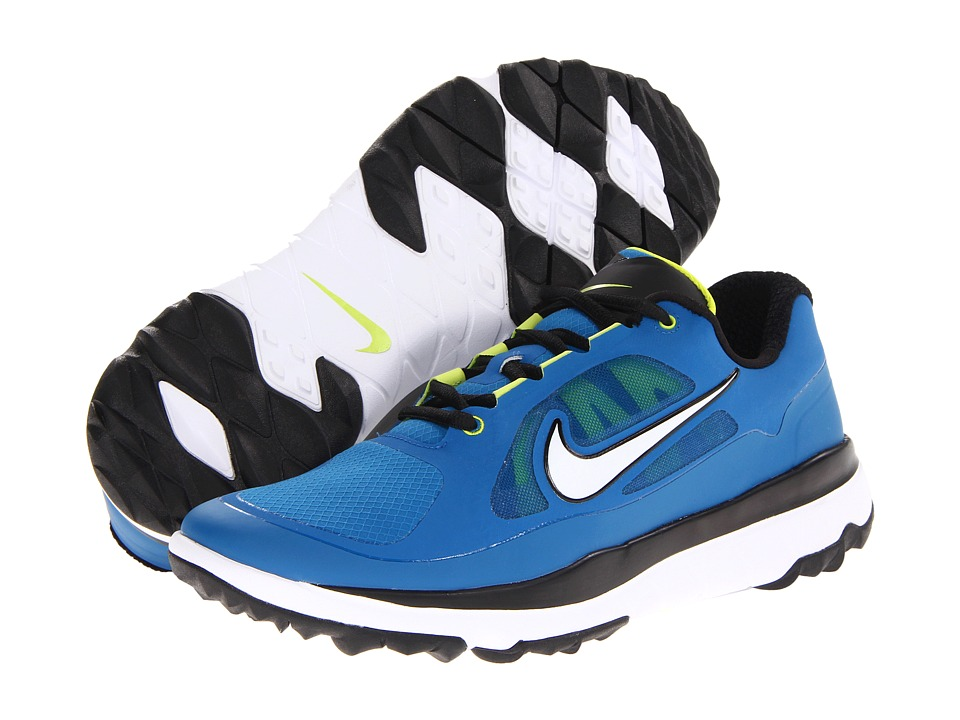 Nike Golf - FI Impact (Military Blue/White/Venom Green) Men's Golf Shoes