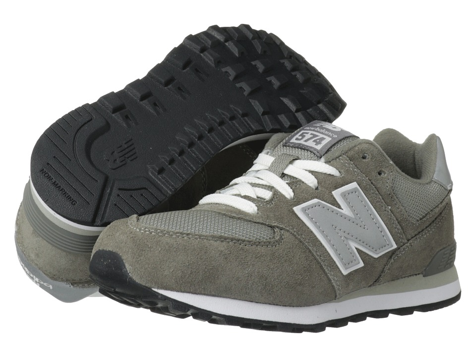 New Balance Kids - 574 (Big Kid) (Grey/Silver) Kids Shoes