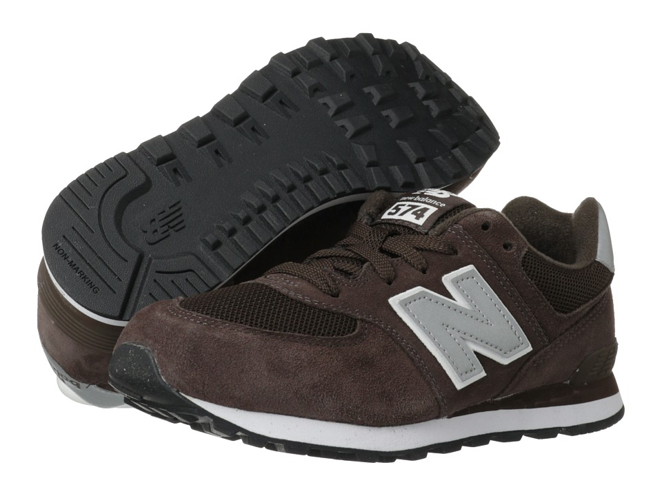 New Balance Kids - 574 (Big Kid) (Chocolate/Silver) Kids Shoes