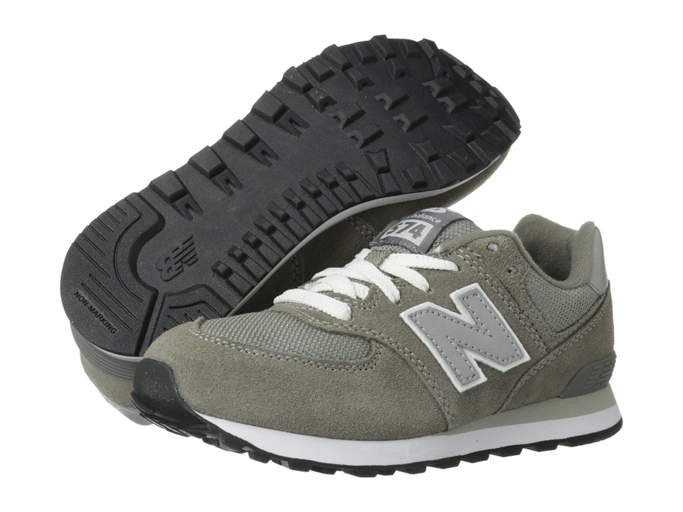 New Balance Kids - 574 (Little Kid) (Grey/Silver) Kids Shoes