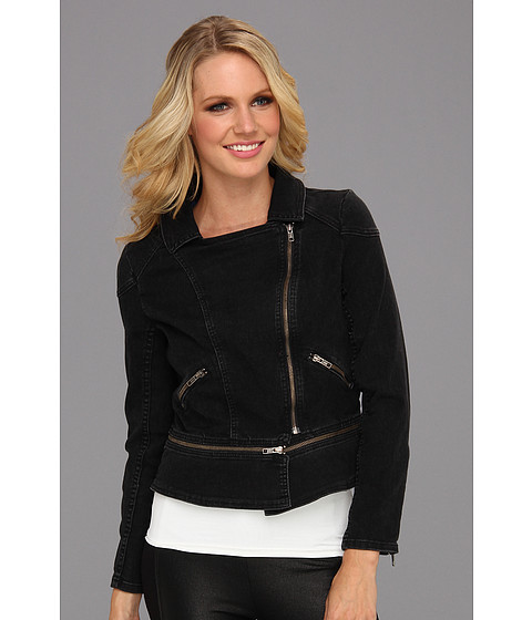 Patterson J Kincaid - Ella Moto Jacket (Black) Women's Jacket