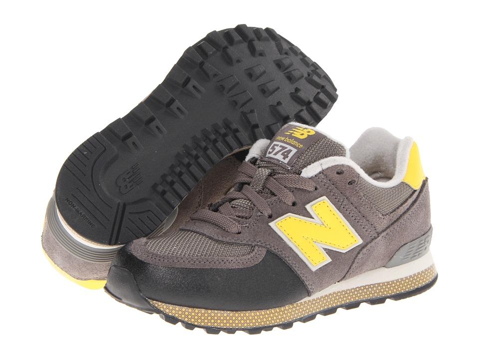 New Balance Kids 574 Boys Shoes (Gray)