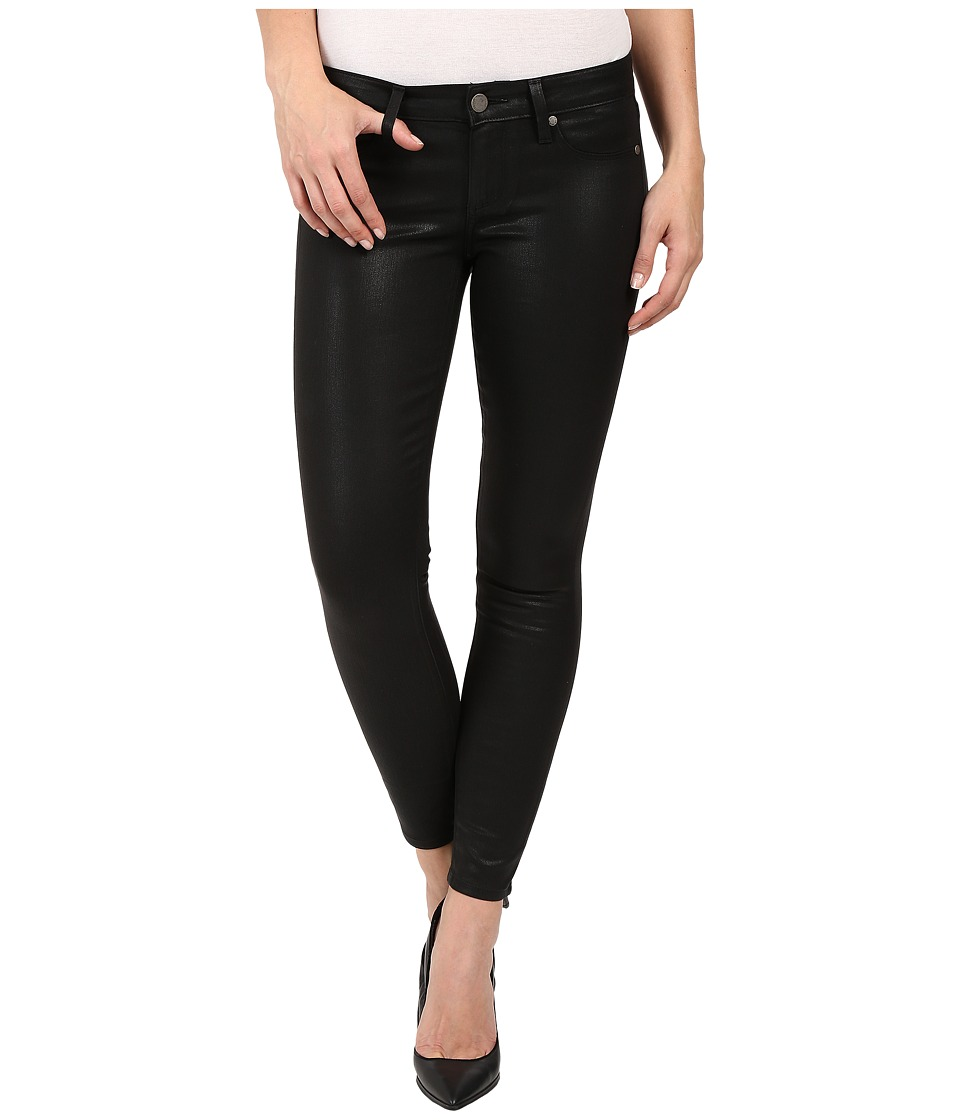 Paige - Verdugo Ultra Skinny Ankle Coated in Black Silk (Black Silk) Women's Jeans