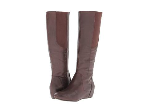 Enzo Angiolini - Deanja Wide Calf (Dark Brown Leather) Women's Zip Boots