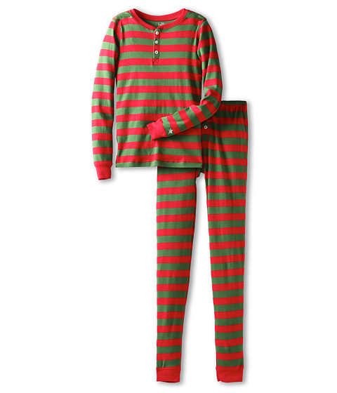 Hatley Kids - Pj Set (Toddler/Little Kids/Big Kids) (Holiday Stripe) Kid's Pajama Sets