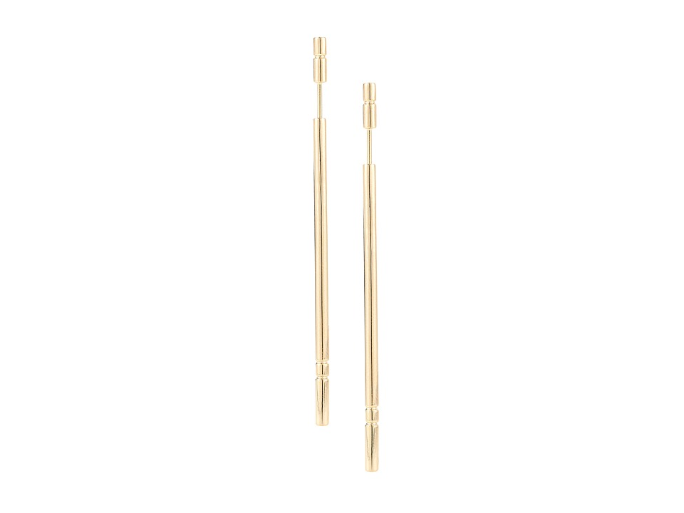 Elizabeth and James - Berlin Linear Post Earring (Gold) Earring