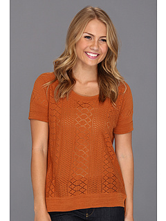 SALE! $31.99 - Save $48 on Lucky Brand Adrianna Mixed Stitch Sweater Top (Adobe) Apparel - 59.76% OFF $79.50