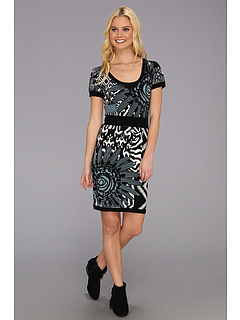 SALE! $51.99 - Save $77 on Desigual Blanco Y Negro Dress (Negro) Apparel - 59.70% OFF $129.00