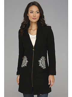 SALE! $159.99 - Save $159 on Desigual L`adoration Overcoat (Negro) Apparel - 49.85% OFF $319.00