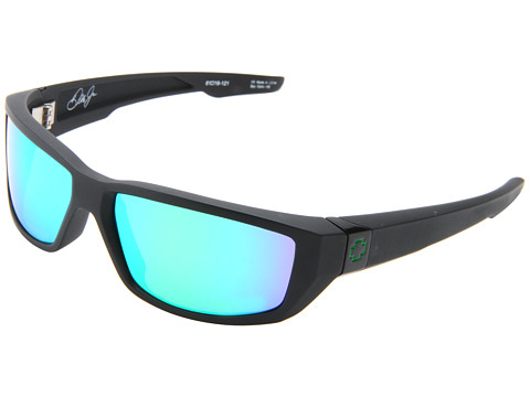 Spy Optic - Dirty Mo (Matte Black/Green Spectra) Fashion Sunglasses