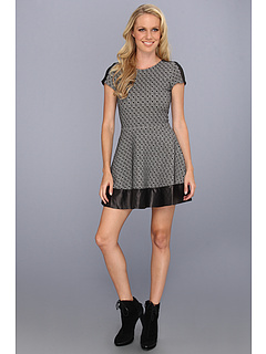 SALE! $119.99 - Save $276 on Parker Nolan Dress (Black White) Apparel - 69.70% OFF $396.00