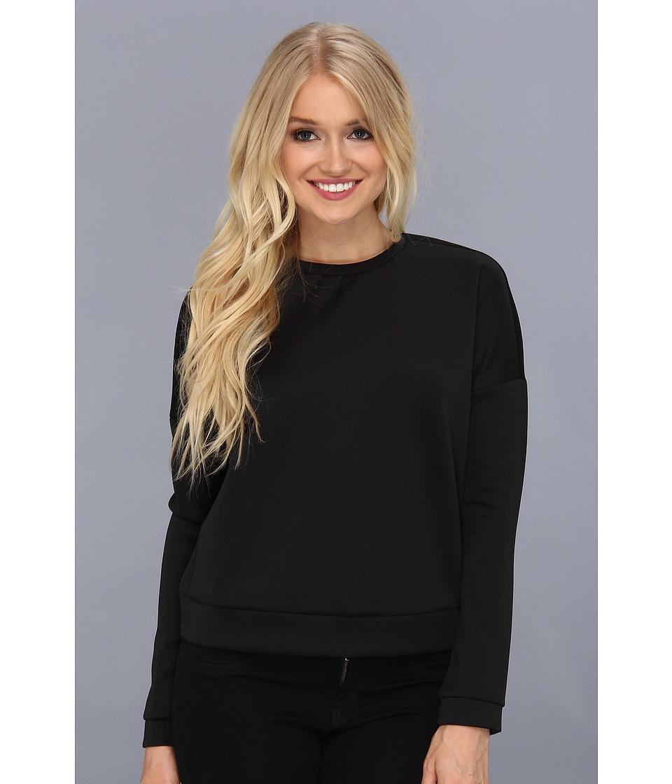 BCBGeneration - Scuba Drop Shoulder Sweatshirt (Black) Women