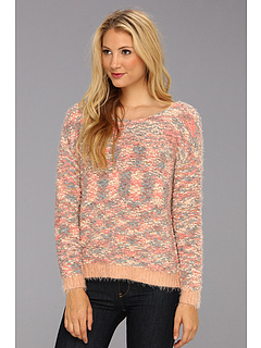 SALE! $59.99 - Save $68 on BCBGeneration L S Round Neck Sweater Top (Pink Combo) Apparel - 53.13% OFF $128.00