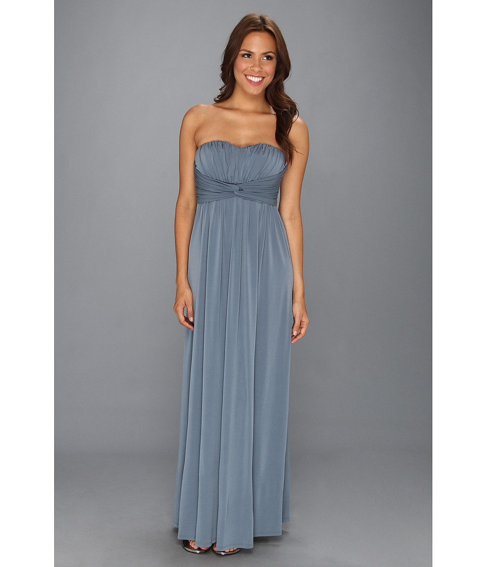 Jessica Simpson - Twist Bust Maxi Gown (Stormy Weather) Women's Dress