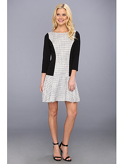 SALE! $66.99 - Save $81 on Jessica Simpson 3 4 Sleeve Drop Waist Dress w Circle Skirt (Bellflower) Apparel - 54.74% OFF $148.00