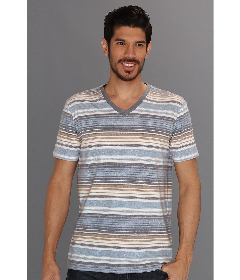 Lucky Brand Stripe V Neck Mens T Shirt (Multi)