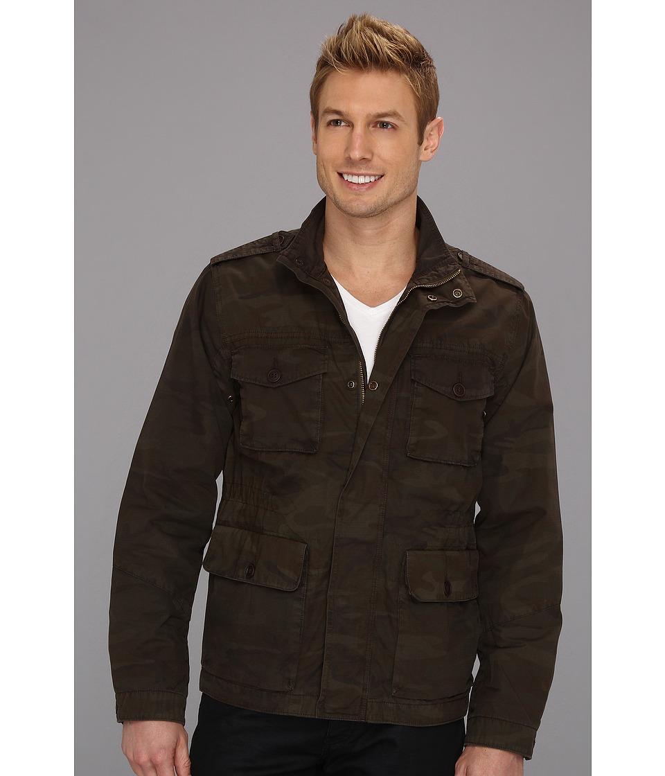 Lucky Brand Camo Utility Jacket Mens Coat (Olive)