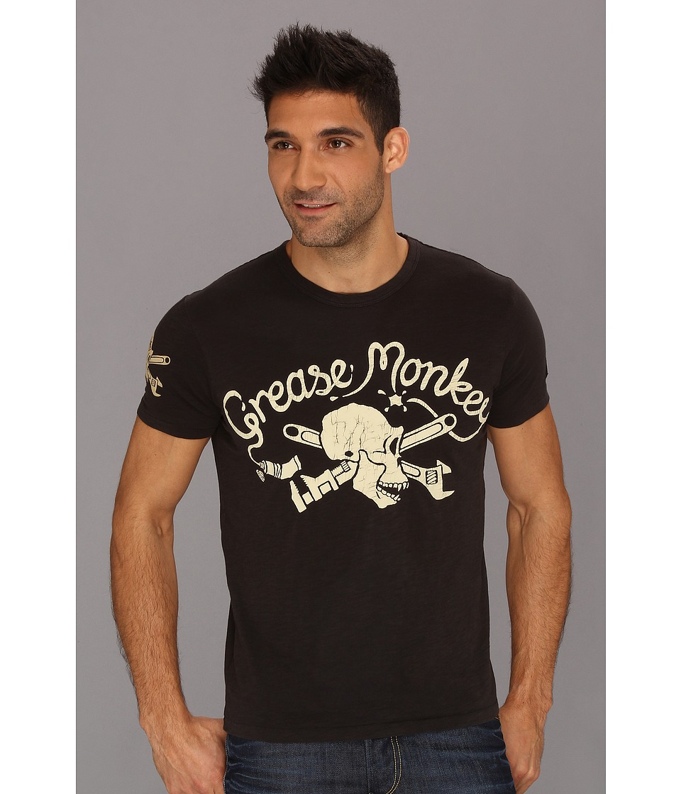 Lucky Brand Jomo Grease Monkey Mens Short Sleeve Pullover (Black)