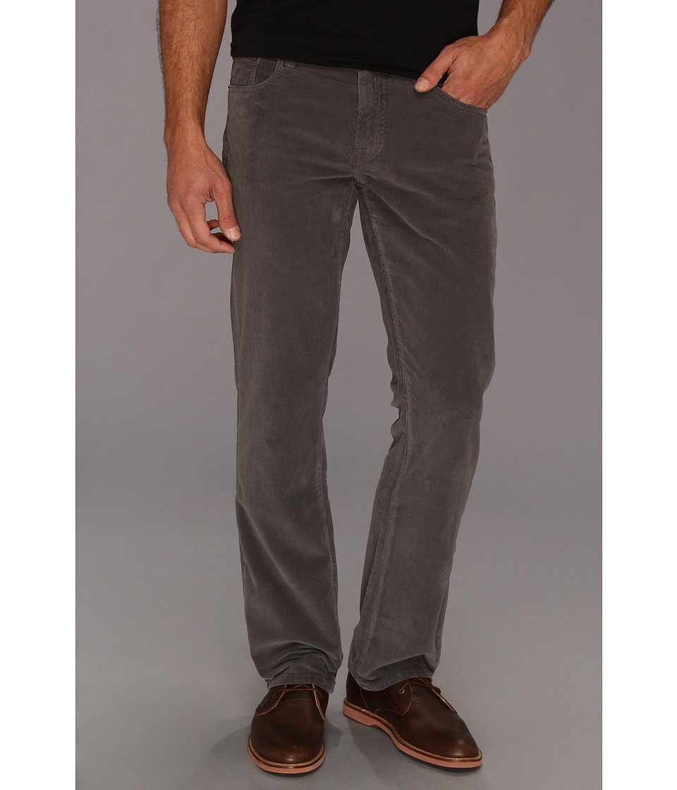 Lucky Brand 221 Original Straight Cords Mens Casual Pants (Gray)