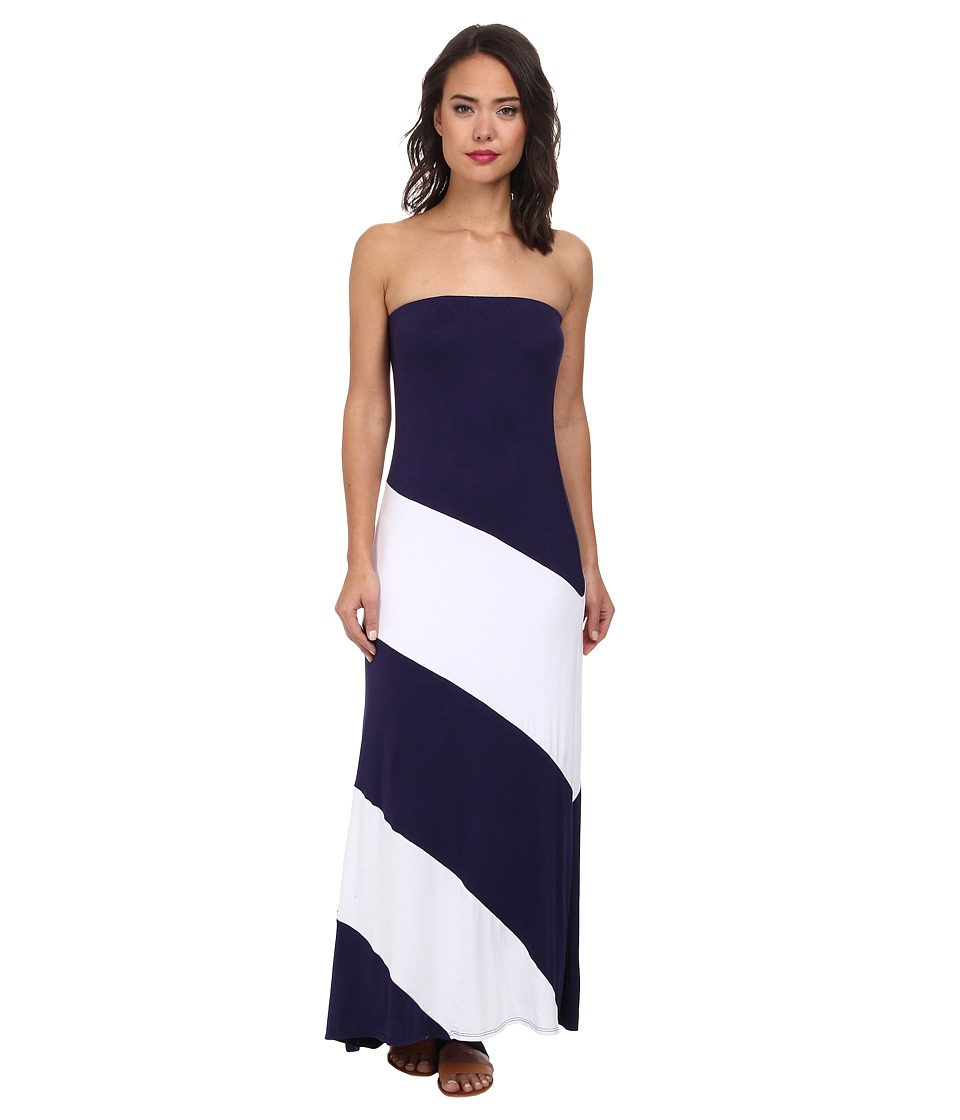 Culture Phit Fannette Stripe Maxi Dress (Navy/White) Women