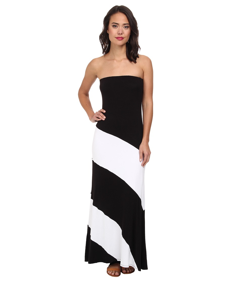 Culture Phit - Fannette Stripe Maxi Dress (Black/White) Women's Dress