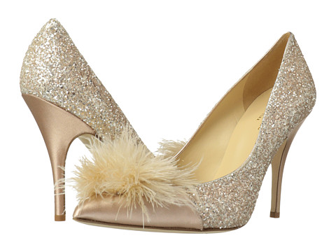Kate Spade New York - Lilo (Rose Gold Glitter/Rose Gold Metallic Nappa/Satin) High Heels