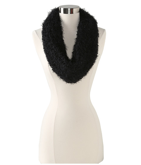 Steve Madden - Solid Loopy Sequins Snood (Black) Scarves