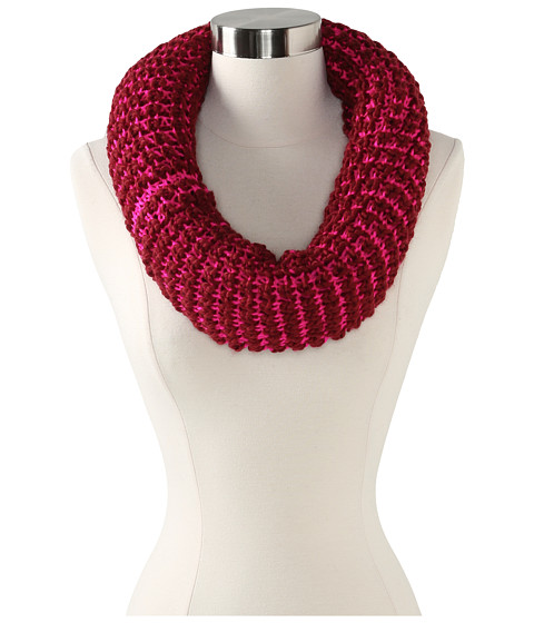 Steve Madden - Two-Tone Reversible Snood (Maroon) Scarves