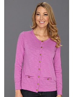 SALE! $19.99 - Save $24 on Caribbean Joe Long Sleeve Button Front Cardigan (Meadow Orchid) Apparel - 54.57% OFF $44.00