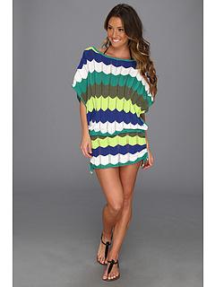SALE! $57.99 - Save $106 on Trina Turk Zig Zag Crochet Tunic (Green) Apparel - 64.64% OFF $164.00