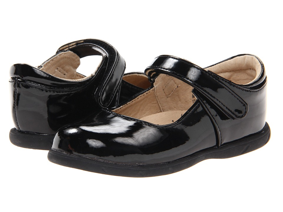 FootMates - Lizzie (Infant/Toddler) (Black Patent) Girls Shoes