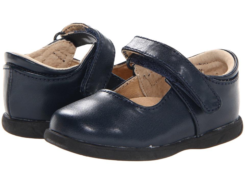 FootMates - Lizzie (Infant/Toddler) (Navy) Girls Shoes